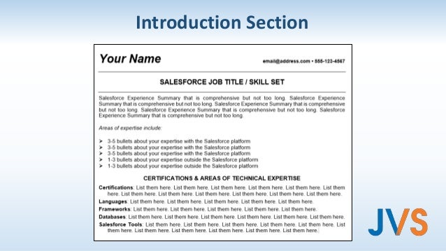 salesforce resume and personal branding techniques