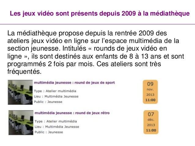 L'offre de jeux vidéo à la médiathèque de Villepinte Slide 2
