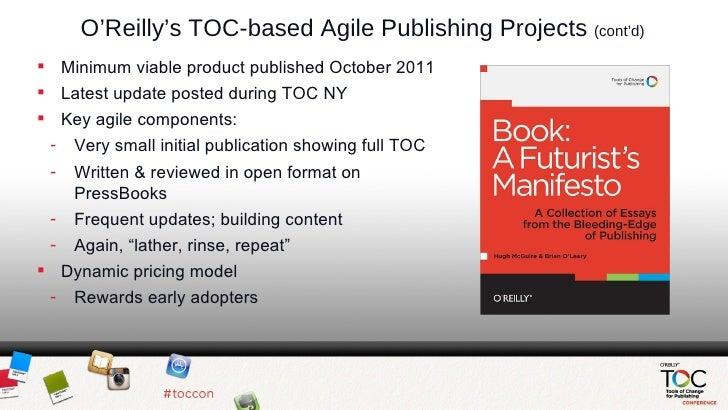 O'Reilly Agile Publishing Slides Slide 2