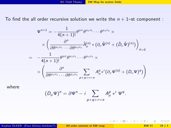 K. Ulker - Non-commutative Gauge Theories and Seiberg ...