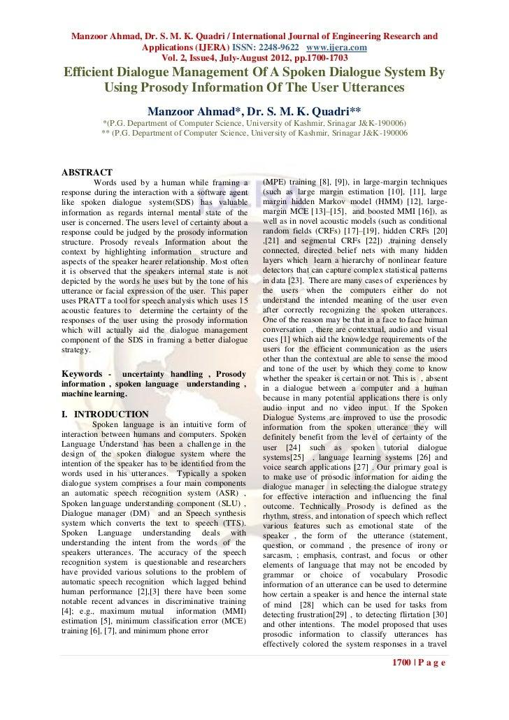 Manzoor Ahmad, Dr. S. M. K. Quadri / International Journal of Engineering Research and                Applications (IJERA)...