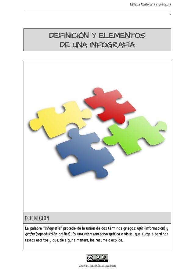 Lengua Castellana y Literatura  1  DEFINICIÓNYELEMENTOS DEUNAINFOGRAFÍA               DEFINICIÓN L...