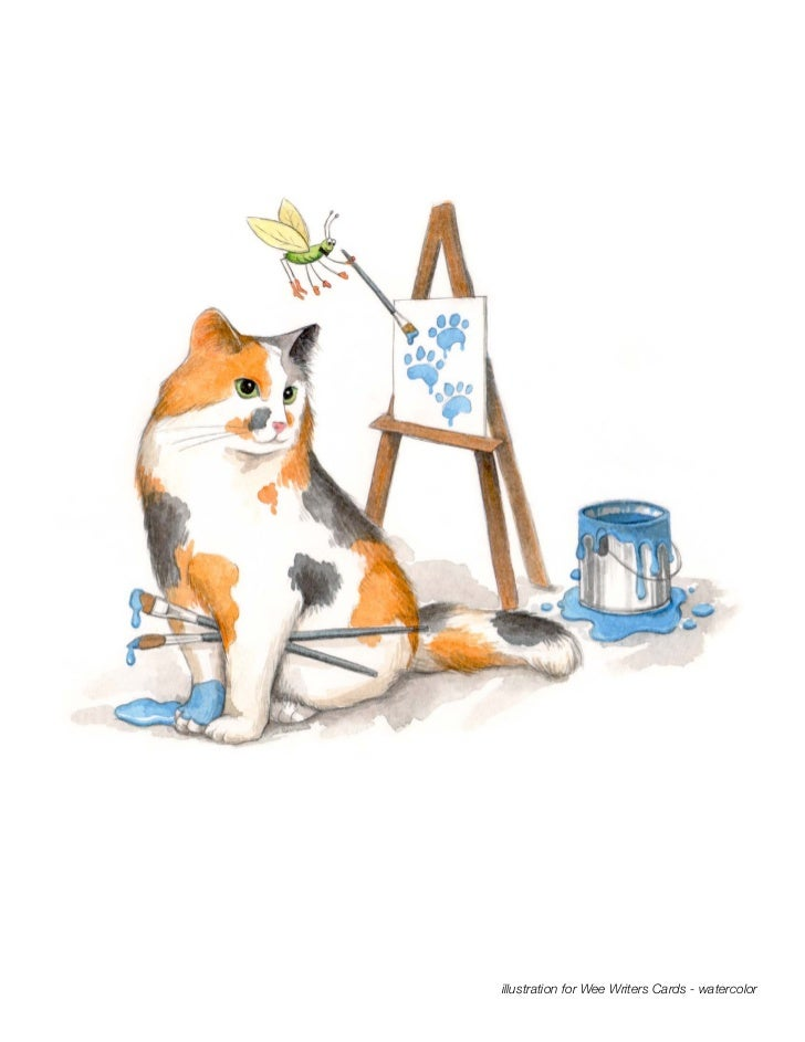 illustration for Wee Writers Cards - watercolor