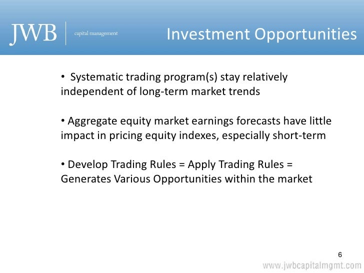 Equity index trading strategies