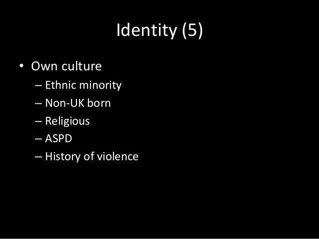 Support / Oppose war (6) • Support – White – UK born – Not religious – Not depressed – ASPD – History of violence – Crimin...