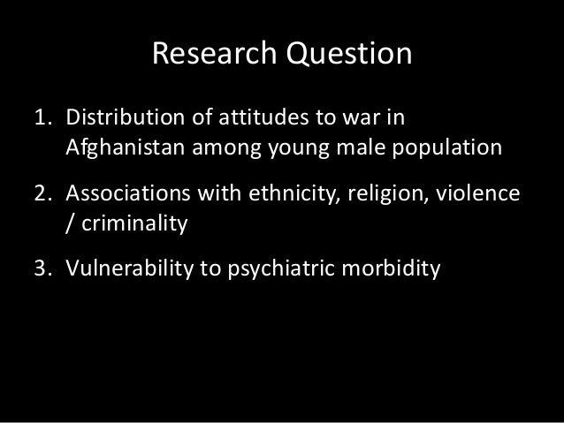 Method • Survey men 18-34 years, Great Britain, 2011 • 3,679 men. Random Allocation Sampling • Self-reported – Psychiatric...