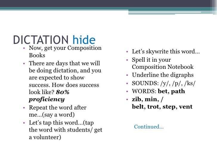 Underline digraphs, blends, digraph blends</li></ul>Ready?<br />*** Three snaps in 3…<br />