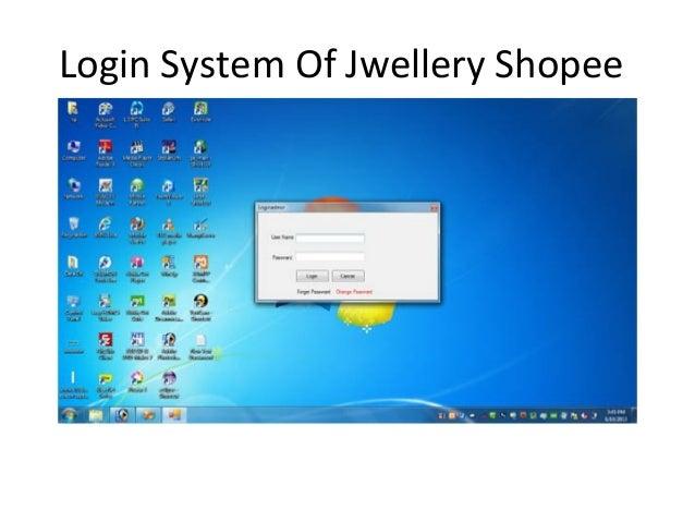 Login System Of Jwellery Shopee