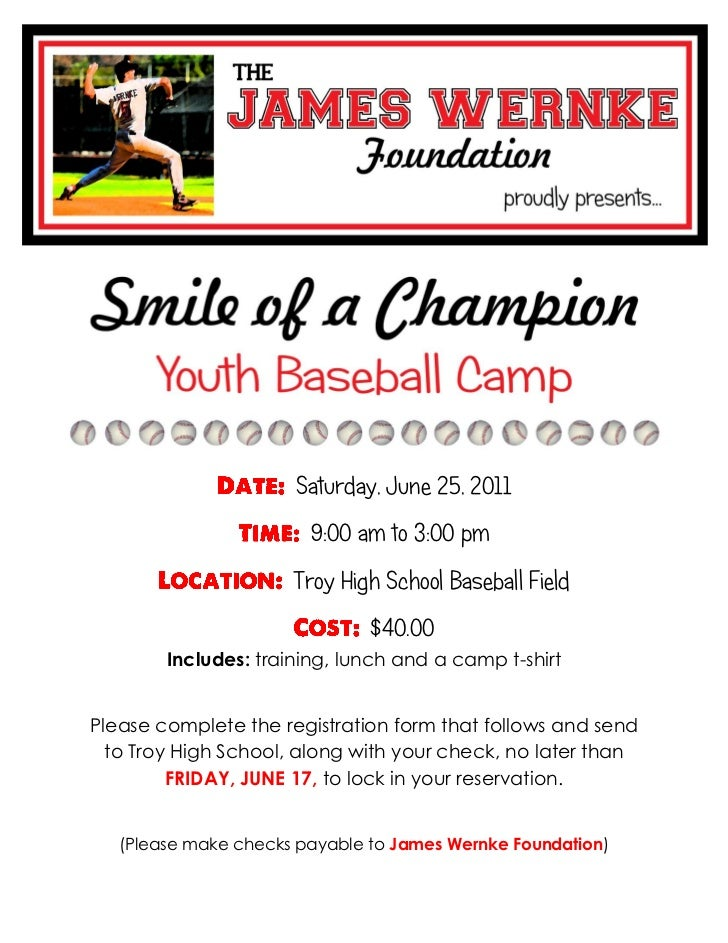 Saturday, June 25, 2011                        9:00 am to 3:00 pm                      Troy High School Baseball Field    ...
