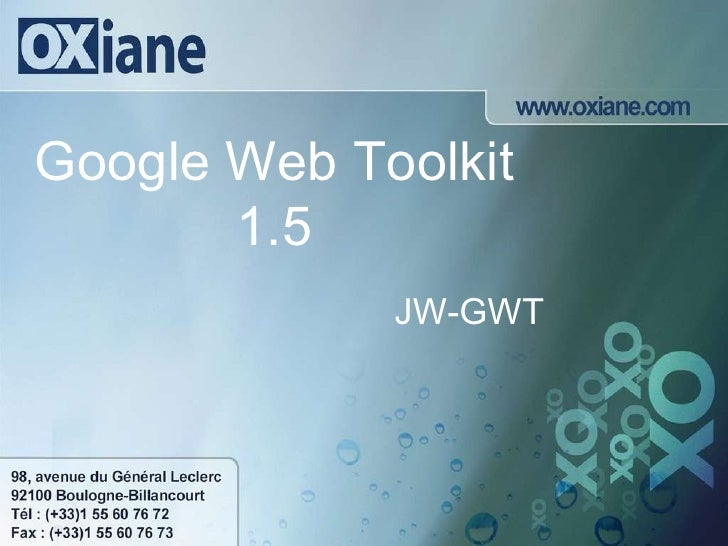 Google Web Toolkit 1.5 JW-GWT