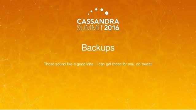Cassandra Backups and Restorations Using Ansible (Joshua