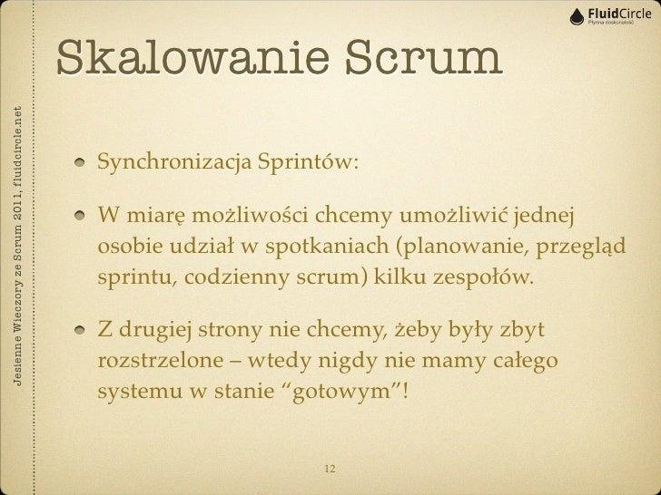 Skalowanie ScrumJesienne Wieczory ze Scrum 2011, fluidcircle.net                                                    Synchr...