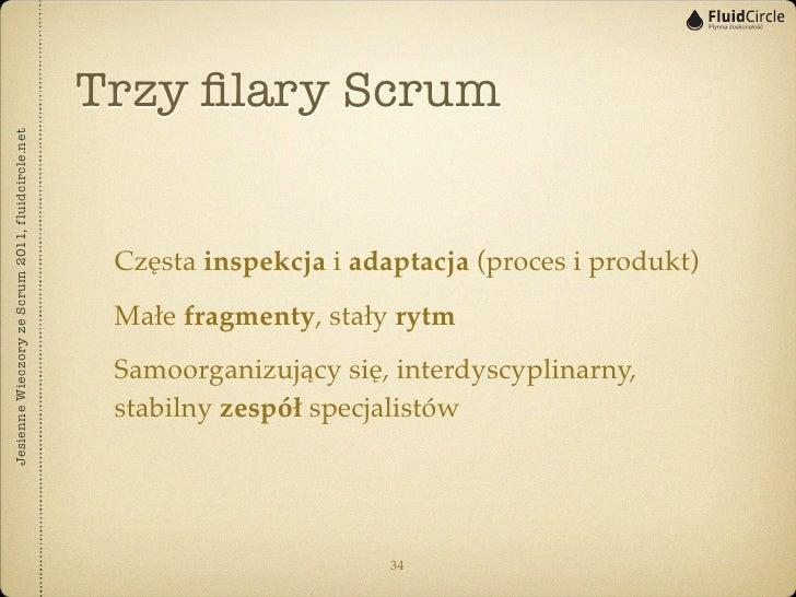 Trzy filary ScrumJesienne Wieczory ze Scrum 2011, fluidcircle.net                                                    Częsta...