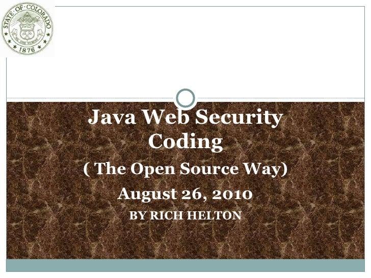 Java Web Security Class