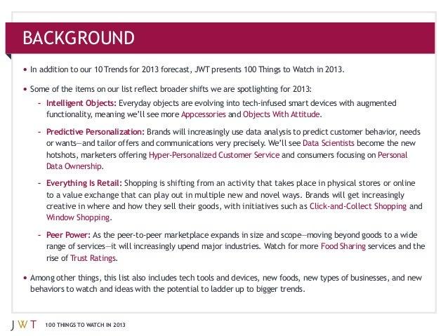 JWT: 100 Things to Watch in 2013 Slide 3
