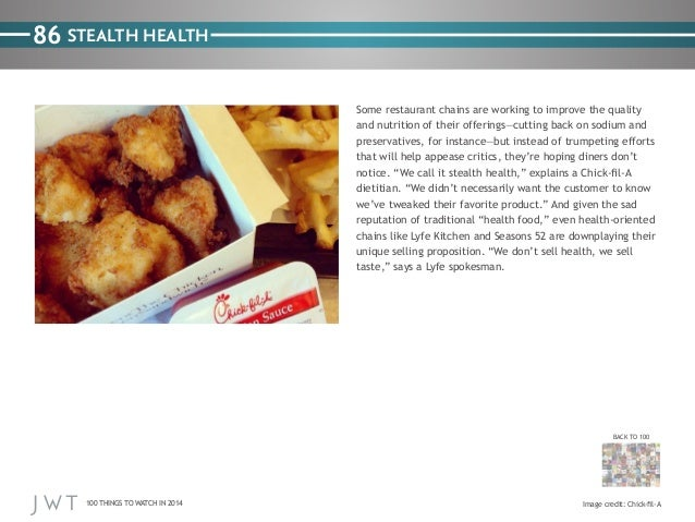86 STEALTH HEALTH Some restaurant