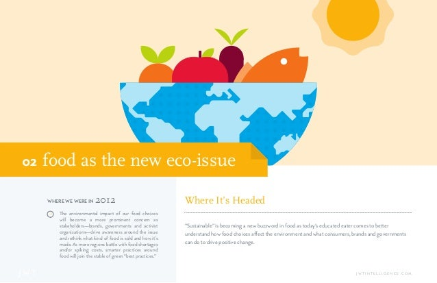 J W T J W T I N T E L L I G E N C E . C O M food as the new eco-issue02 J The environmental impact of our food choices wil...
