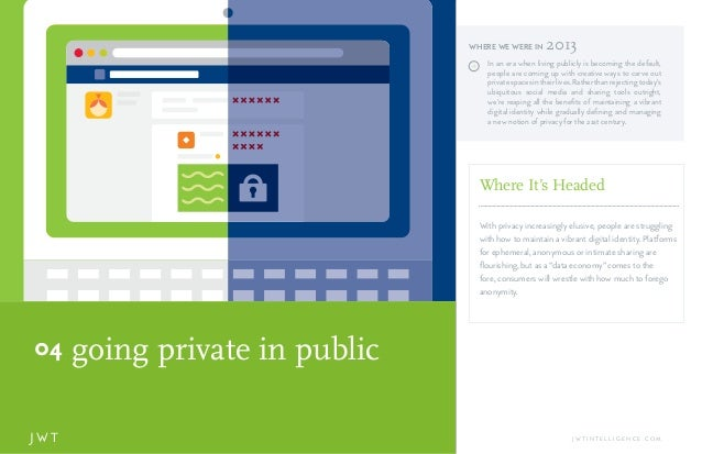 going private in public04 J W T J W T I N T E L L I G E N C E . C O M J In an era when living publicly is becoming the def...