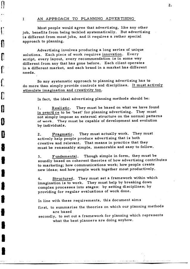 Stephen King, JWT Planning Guide, March 1974 Slide 3