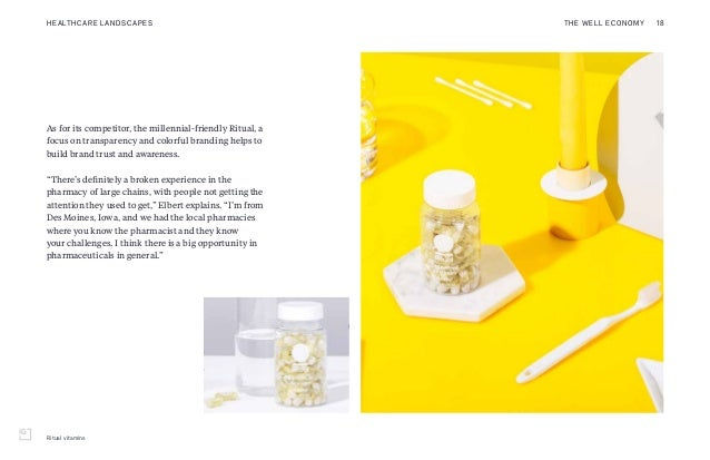 Ritual vitamins As for its competitor, the millennial-friendly Ritual, a focus on transparency and colorful branding helps...