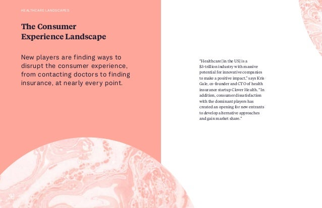 """The Consumer Experience Landscape """"Healthcare [in the US] is a $3-trillion industry with massive potential for innovative ..."""