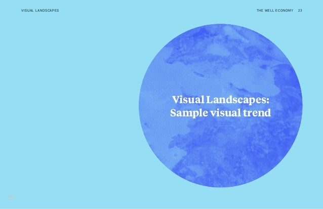 Visual Landscapes: Sample visual trend THE WELL ECONOMY 23VISUAL LANDSCAPES