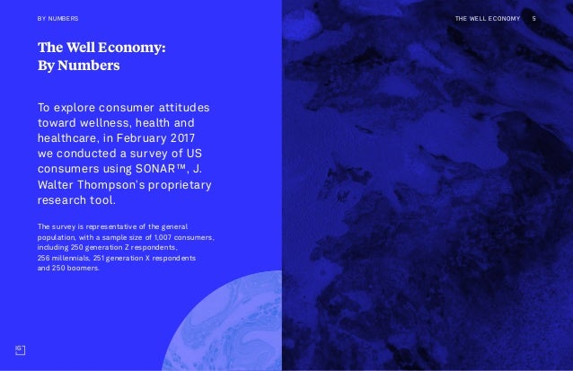 The Well Economy: By Numbers To explore consumer attitudes toward wellness, health and healthcare, in February 2017 we con...