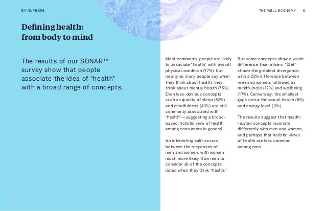 """Defining health: from body to mind Most commonly, people are likely to associate """"health"""" with overall physical condition ..."""
