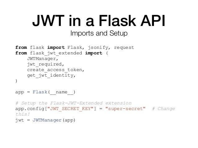 Flask Security Jwt