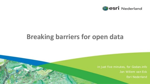 Click to edit Subtitle (optional) Breaking barriers for open data in just five minutes, for Godan.info Jan Willem van Eck ...