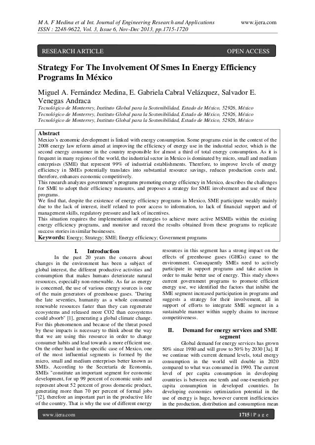 M A. F Medina et al Int. Journal of Engineering Research and Applications ISSN : 2248-9622, Vol. 3, Issue 6, Nov-Dec 2013,...