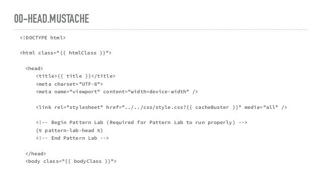 "00-HEAD.MUSTACHE <!DOCTYPE html> <html class=""{{ htmlClass }}""> <head> <title>{{ title }}</title> <meta charset=""UTF-8""> <..."