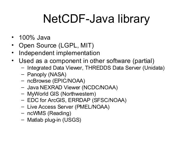 Reading HDF family of formats via NetCDF-Java / CDM