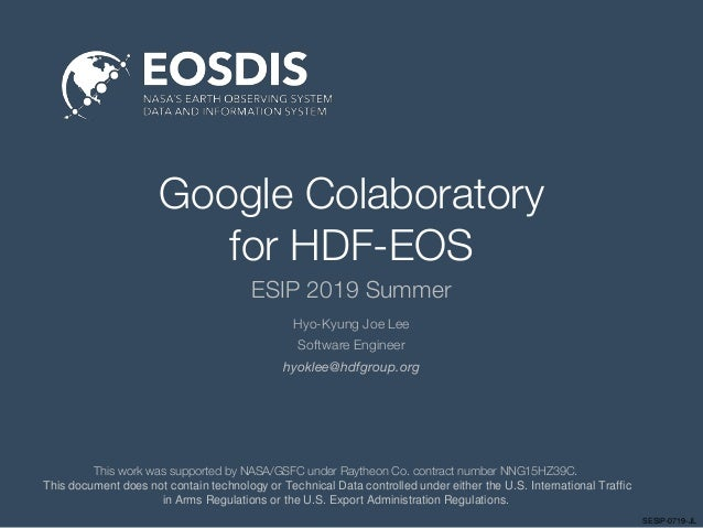 Google Colaboratory for HDF-EOS