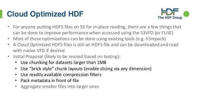 HDF for the Cloud