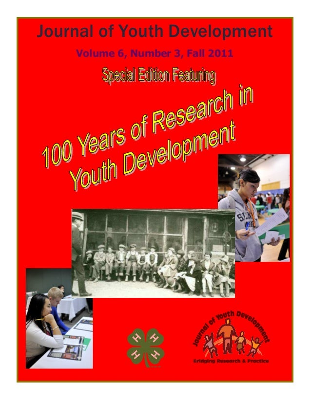 1 Journal of Youth Development Volume 6, Number 3, Fall 2011