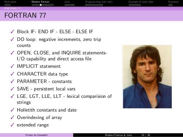 Fortran 95 Language Reference Manual