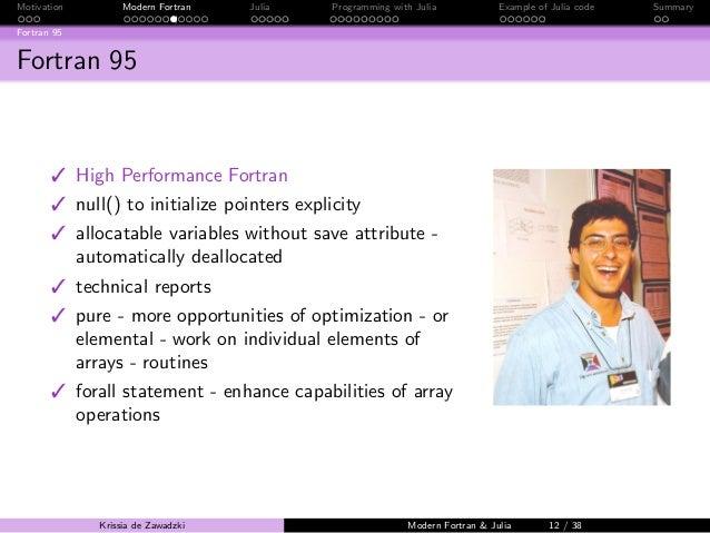Seminar Fortran And Julia