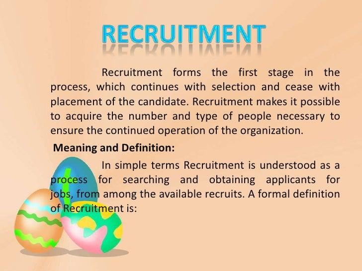 thesis recruitment