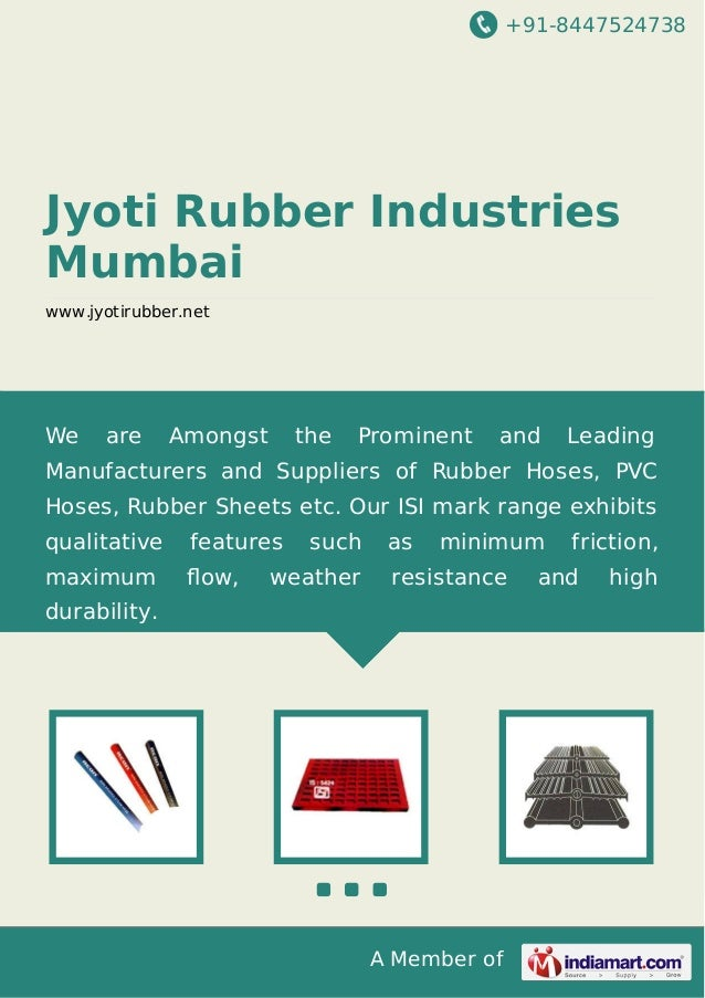 +91-8447524738  Jyoti Rubber Industries Mumbai www.jyotirubber.net  We  are  Amongst  the  Prominent  and  Leading  Manufa...