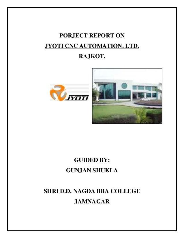 Jyoti cnc visiting report