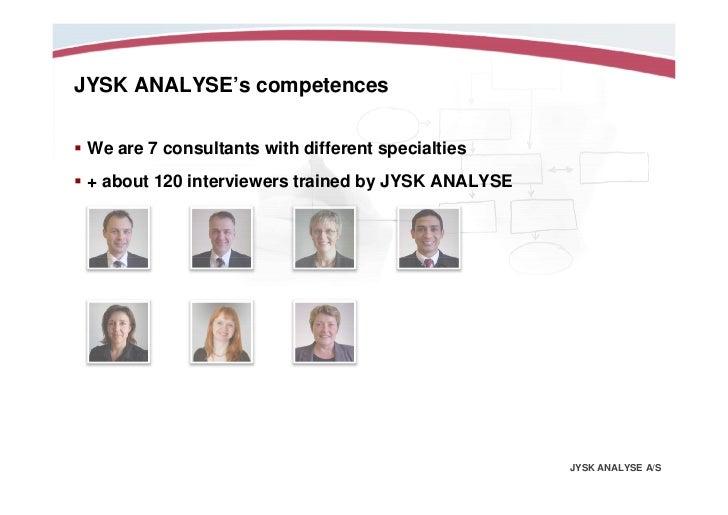 Jysk analysis