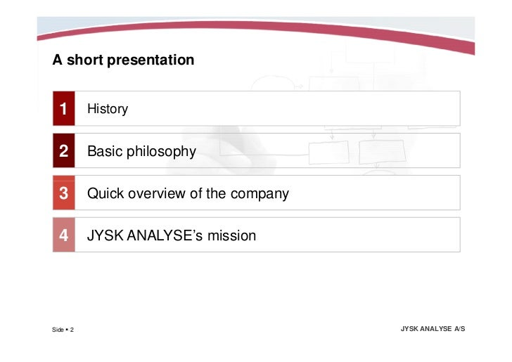 jysk analysis About us jysk analysis is a full service research company with more than 20 years of experience in market research we are specialized in customized market research.