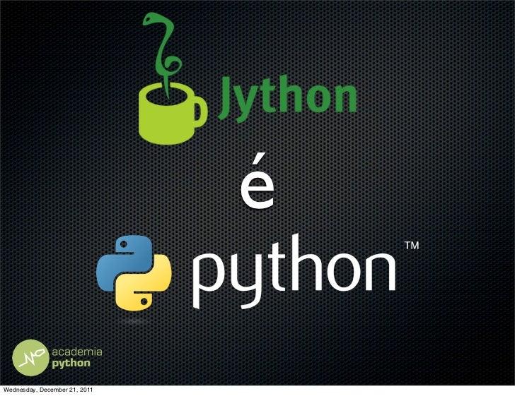 Jython No JavaOne Latin America 2011