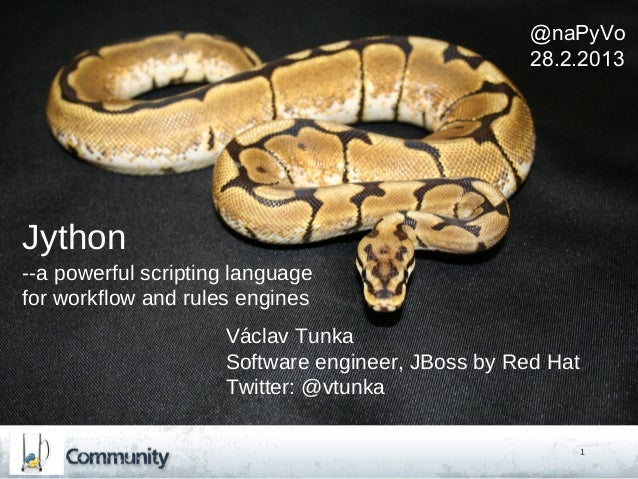 @naPyVo                                                   28.2.2013Jython--a powerful scripting languagefor workflow and r...