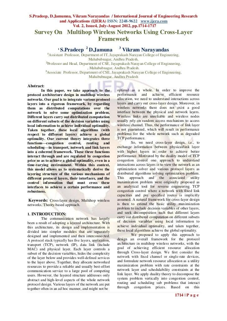S.Pradeep, D.Jamunna, Vikram Narayandas / International Journal of Engineering Research                and Applications (I...