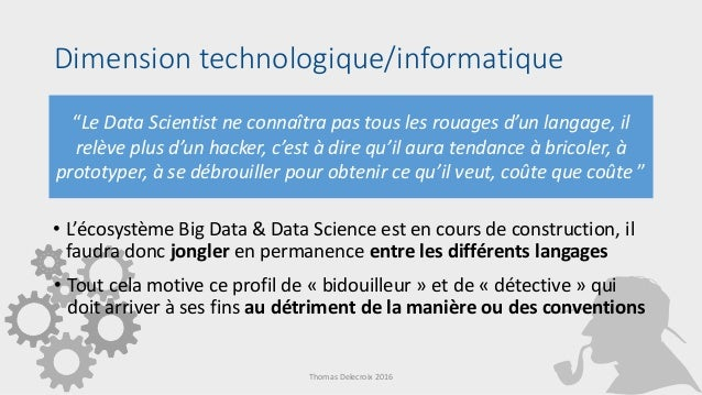 Le Metier De Data Scientist The Job Of Data Scientist
