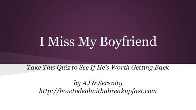 What Do I See In My Boyfriend