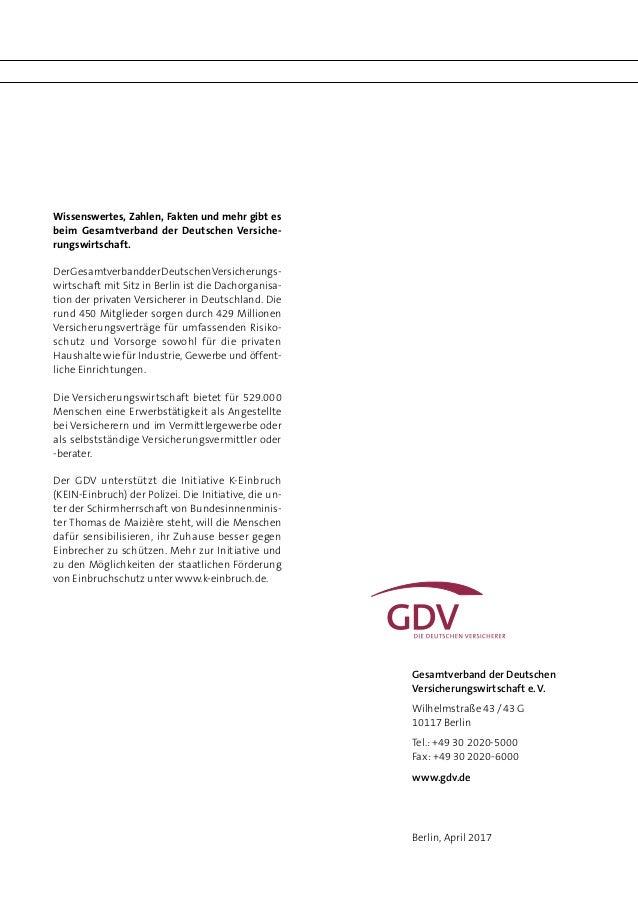 einbruch report 2017 der deutschen versicherungswirtschaft. Black Bedroom Furniture Sets. Home Design Ideas