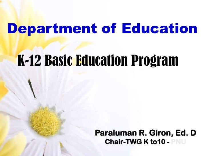 K to 12 program on the